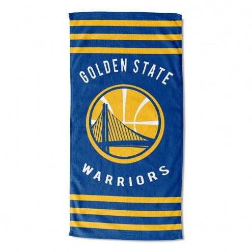 Golden State Warriors Stripes Beach Towel