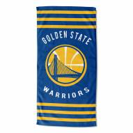 Golden State Warriors Stripes Beach Towel