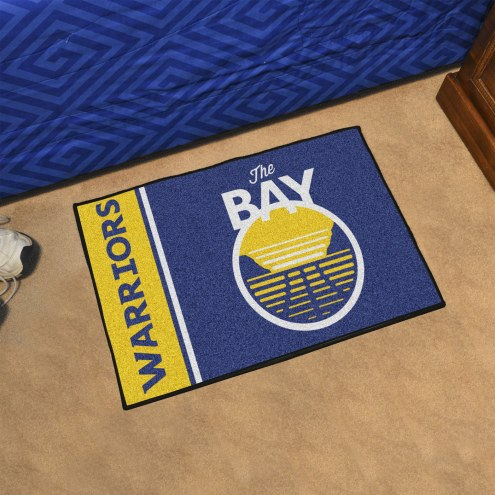 Golden State Warriors Uniform Inspired Starter Rug