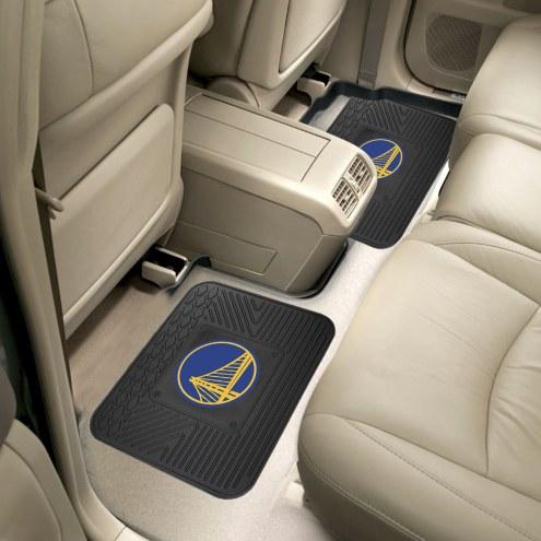 Golden State Warriors Vinyl 2-Piece Rear Floor Mats