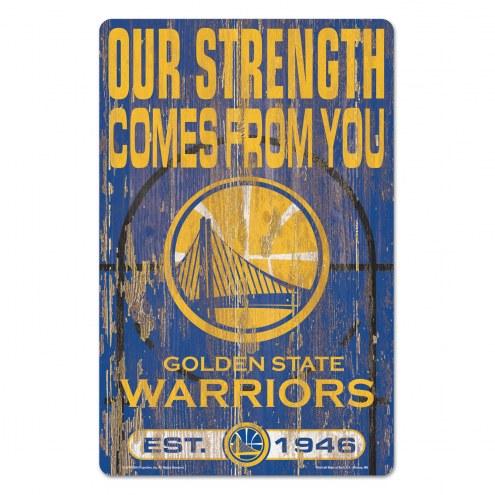 Golden State Warriors Slogan Wood Sign