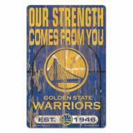 Golden State Warriors Slogan Wood Sign