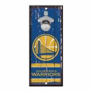 Golden State Warriors Wood Bottle Opener