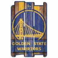 Golden State Warriors Wood Fence Sign