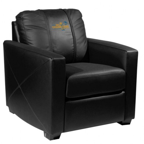 Golden State Warriors XZipit Silver Club Chair with Secondary Logo