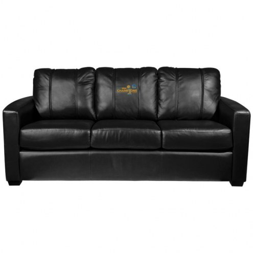 Golden State Warriors XZipit Silver Sofa with Secondary Logo