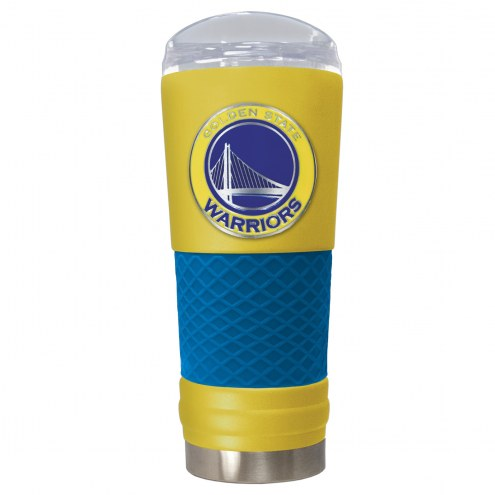 Golden State Warriors Yellow 24 oz. Powder Coated Draft Tumbler