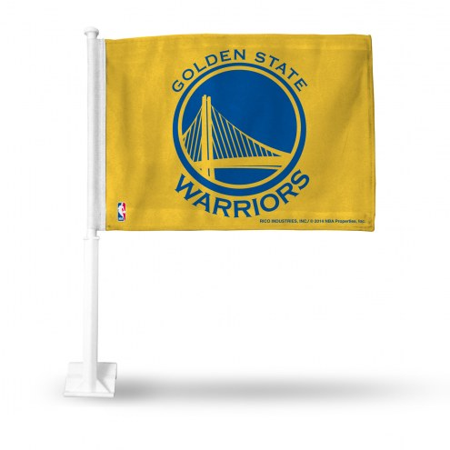 Golden State Warriors Yellow Car Flag