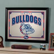 """Gonzaga Bulldogs 23"""" x 18"""" Mirror"""