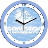 Gonzaga Bulldogs Baby Blue Wall Clock