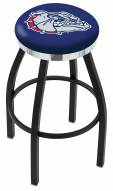 Gonzaga Bulldogs Black Swivel Barstool with Chrome Accent Ring