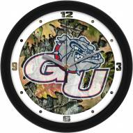 Gonzaga Bulldogs Camo Wall Clock