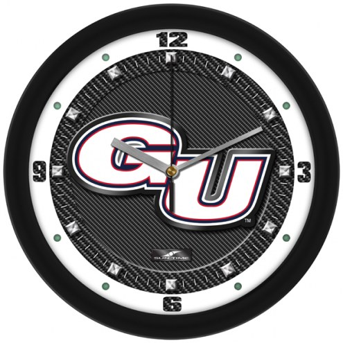 Gonzaga Bulldogs Carbon Fiber Wall Clock