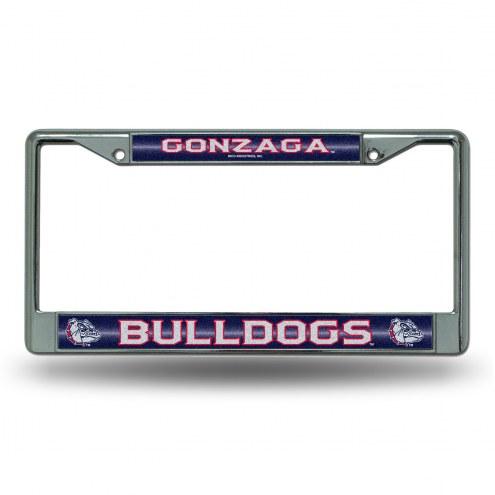 Gonzaga Bulldogs Chrome Glitter License Plate Frame