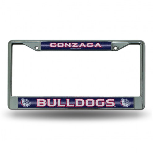 Gonzaga Bulldogs Chrome Glitter License Plate Frame