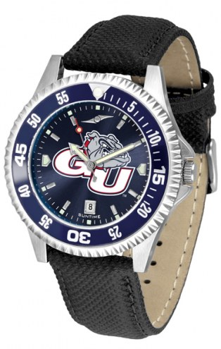 Gonzaga Bulldogs Competitor AnoChrome Men's Watch - Color Bezel