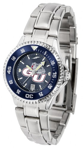 Gonzaga Bulldogs Competitor Steel AnoChrome Women's Watch - Color Bezel