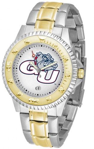 Gonzaga Bulldogs Competitor Two-Tone Men's Watch