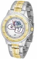 Gonzaga Bulldogs Competitor Two-Tone Men's Watch