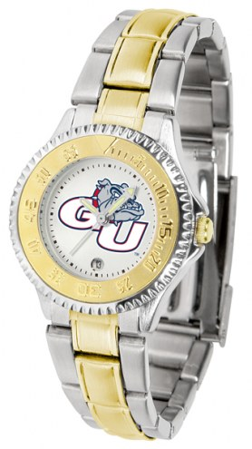 Gonzaga Bulldogs Competitor Two-Tone Women's Watch
