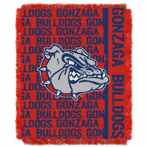 Gonzaga Bulldogs Double Play Woven Throw Blanket