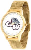 Gonzaga Bulldogs Gold Mesh Statement Watch