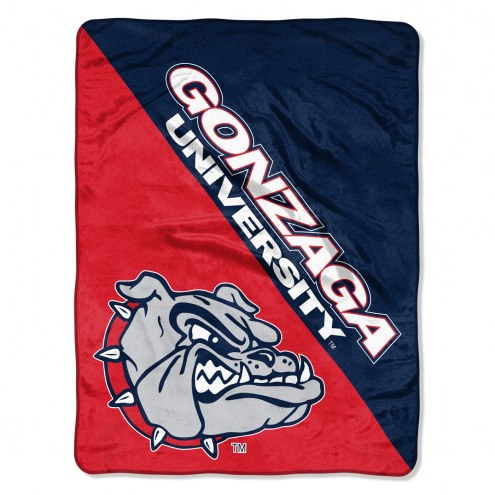 Gonzaga Bulldogs Halftone Raschel Blanket