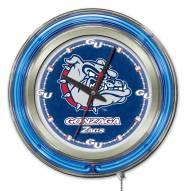 Gonzaga Bulldogs Neon Clock