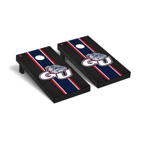 Gonzaga Bulldogs Onyx Stained Cornhole Game Set