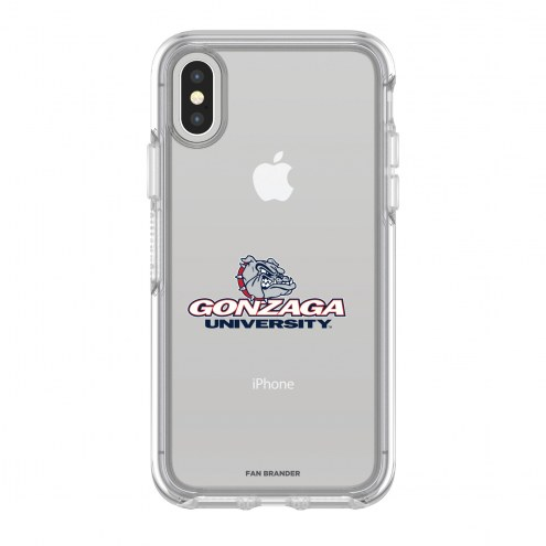 Gonzaga Bulldogs OtterBox iPhone X/Xs Symmetry Clear Case