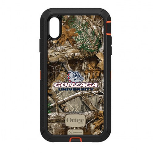 Gonzaga Bulldogs OtterBox iPhone XS Max Defender Realtree Camo Case