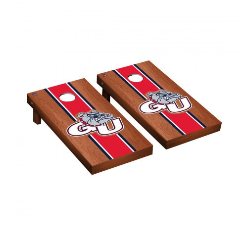 Gonzaga Bulldogs Rosewood Stained Cornhole Game Set
