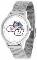 Gonzaga Bulldogs Silver Mesh Statement Watch