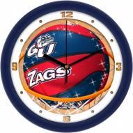 Gonzaga Bulldogs Slam Dunk Wall Clock