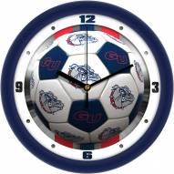 Gonzaga Bulldogs Soccer Wall Clock