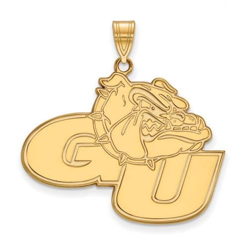 Gonzaga Bulldogs Sterling Silver Gold Plated Extra Large Pendant