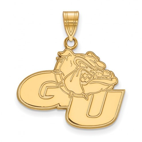 Gonzaga Bulldogs Sterling Silver Gold Plated Large Pendant