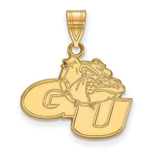 Gonzaga Bulldogs Sterling Silver Gold Plated Medium Pendant