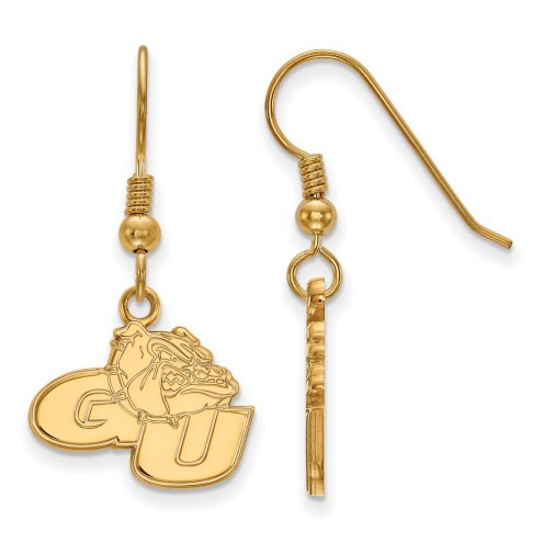 Gonzaga Bulldogs Sterling Silver Gold Plated Small Dangle Earrings
