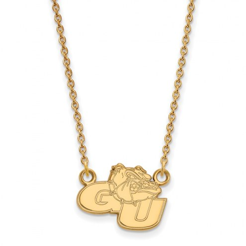 Gonzaga Bulldogs Sterling Silver Gold Plated Small Pendant Necklace