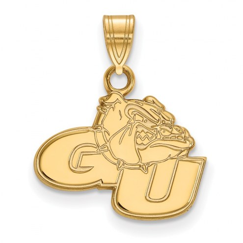 Gonzaga Bulldogs Sterling Silver Gold Plated Small Pendant
