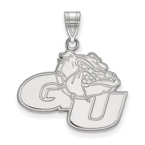 Gonzaga Bulldogs Sterling Silver Large Pendant