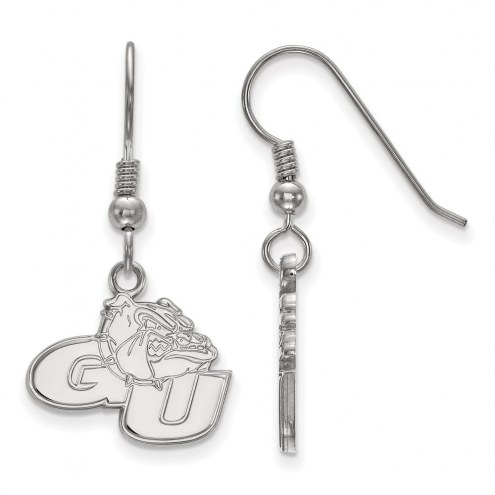 Gonzaga Bulldogs Sterling Silver Small Dangle Earrings