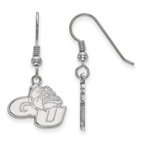 Gonzaga Bulldogs Sterling Silver Small Dangle Earrings