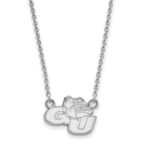 Gonzaga Bulldogs Sterling Silver Small Pendant Necklace