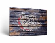 Gonzaga Bulldogs Weathered Canvas Wall Art