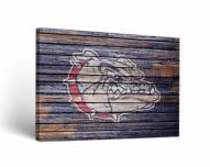 Gonzaga Bulldogs Weathered Canvas Wall Art