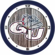 Gonzaga Bulldogs Weathered Wood Wall Clock