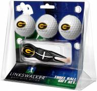 Grambling State Tigers Black Crosshair Divot Tool & 3 Golf Ball Gift Pack