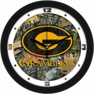 Grambling State Tigers Camo Wall Clock